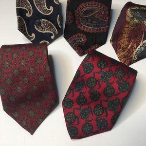 (5) Lot or Five Ties Bundle countess Sara silk tie